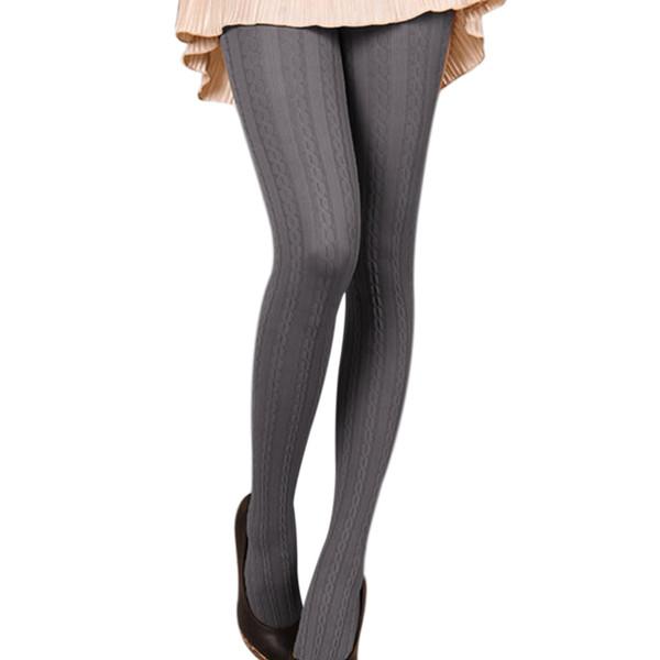 Moda Donna Collant 2017 Autunno Inverno Velluto lavorato a maglia Calze Donna Signore Collant Collant caldo Collant Femme Solid