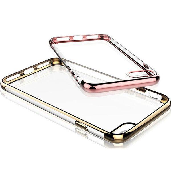 Weicher TPU Galvanik-dünner dünner Handy-Fall freier Gummiüberzug-Kristalltelefon-rückseitige Abdeckung für Iphone 7 7plus Iphone 5 5s 6s 6plus