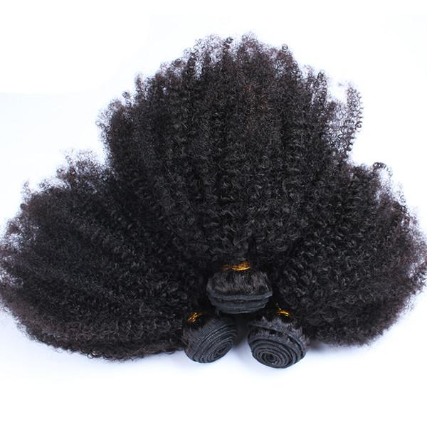 Brazilian Afro Kinky Curly Human Hair Bundles 3pcs/Lot 100g/pc Straight Body Wave Loose Wave Kinky Straight Mongolian Hair