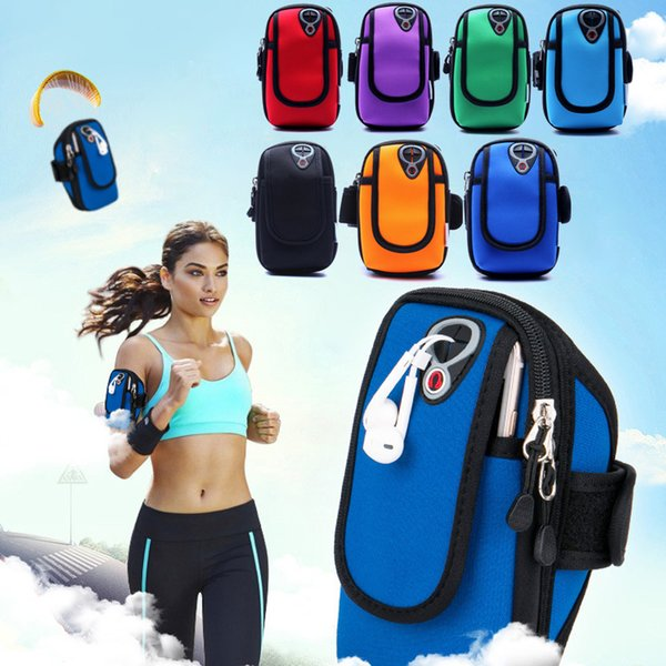 For iphone 5 6 7 plus and universal all phone Armband Waterproof Phone Cases Cover Gym Jog Run Sports Fitness Wrist Hand Belt Pouch Bag