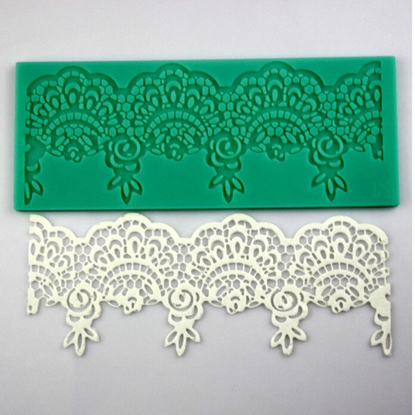 Kitchen Baking Tools 1PC Cake Decoration Molds Beautiful Flower 3D Silicone Lace Mold Fondant Chocolate Mould Cake Decoration
