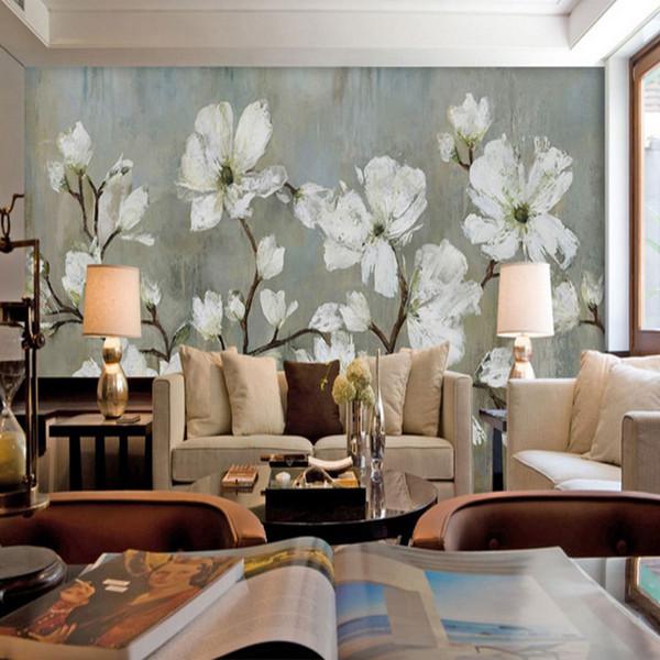 Tapeten Non-Woven Europäischen Wohnzimmer / Bed Room Tapeten Fototapete Stoff Modern bedruckt Blume Europa Stil