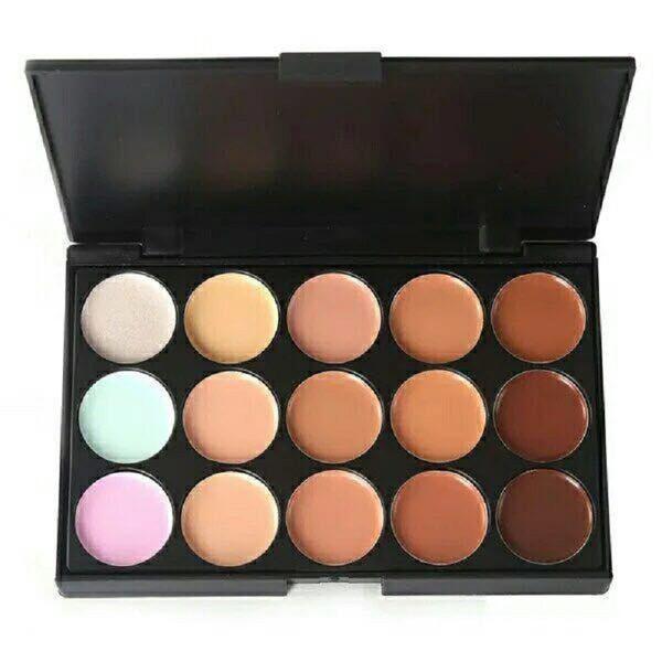 New Professional 15 Colors Concealer Foundation Contour Face Cream Makeup Palette Pro Tool for Salon Party Wedding Daily 0605056