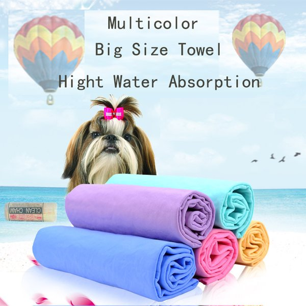 2018 Hot High quality Absorbption Environmental PVA cleaning pet towel dog cat Grooming Bath Products Mix Color Random 66*43*0.2cm 4 pcs/lot