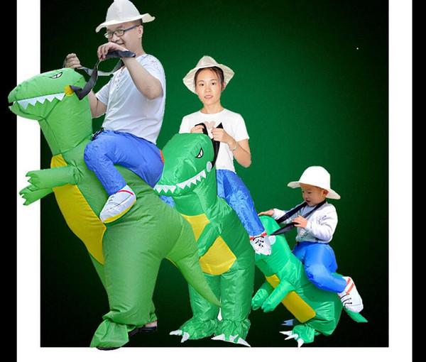 Traje de dinossauro inflável Jurrasic mundo Cosplay 3 tamanhos de decoração de Halloween dinossauro vestido inflável roupas de natal macacão adultos