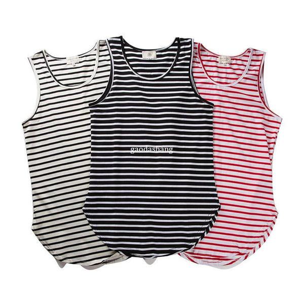 Fear of God Vest Justin Bieber Summer Style Stripe Arc FOG Tank Tops Streetwear Gray/Black/White Swallowtail Fear of God Vest