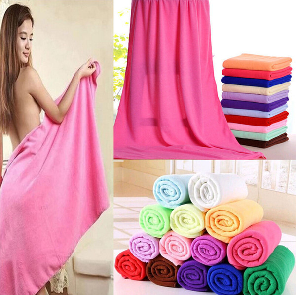 best selling Microfiber Bath Towels Beach Drying Bath Washcloth Shower Towel Swimwear Travel Camping Towels Shower Cleaning Towels 70x140cm KKA1406