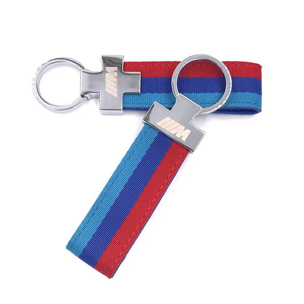 M Tech M Sport Leather Belt Chrome Keyring Keychain For BMW E46 E39 E60 F30 E90 F10 F30 E36 X5 E53 E30 E34 X1 X3 M3 M5 Key Cha