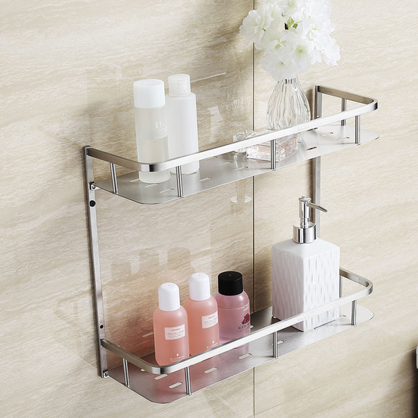 Beautiful Brushed Nickel Shower Shelf
