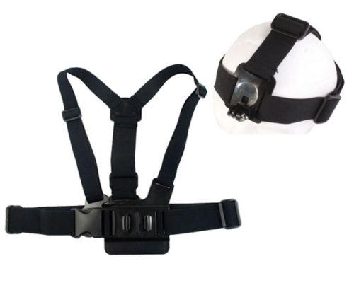 Wholesale- New GP59 Elastic Adjustable Head Strap Mount Belt and Chest Belt Mount Kit For Sports camera Series Action Camera Accessories
