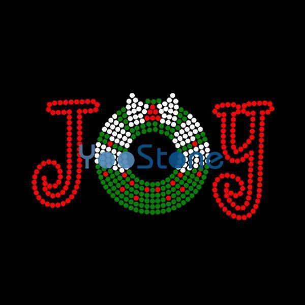 Crystal Snowflake Joy Iron On Rhinestone Transfer Hotfix Motif Design For Girls Clothes