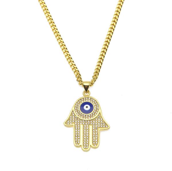Lucky Charm Amulet Hamsa Fatima Hand Evil Eyes Keychains Purse Bag Buckle Pendant For Car Keyrings key chains holder women