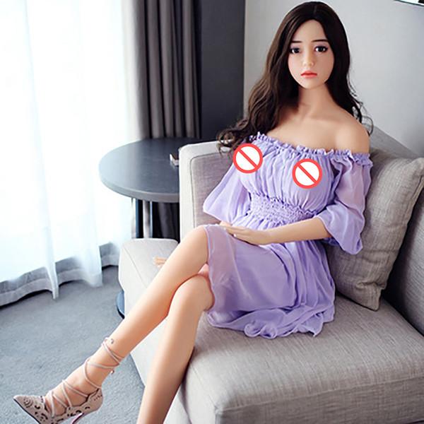 Hot 168cm Sex Doll Medical TPE de alta calidad con Metal Skeleton 100% Real TPE Lifesize breast Vagina Anal Love Doll para hombre