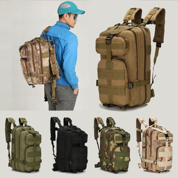 9 Color Unisex Outdoor Military Army 30L Tactical bag Trekking Travel Rucksack Backpack Camping Hiking Trekking Camouflage backpack