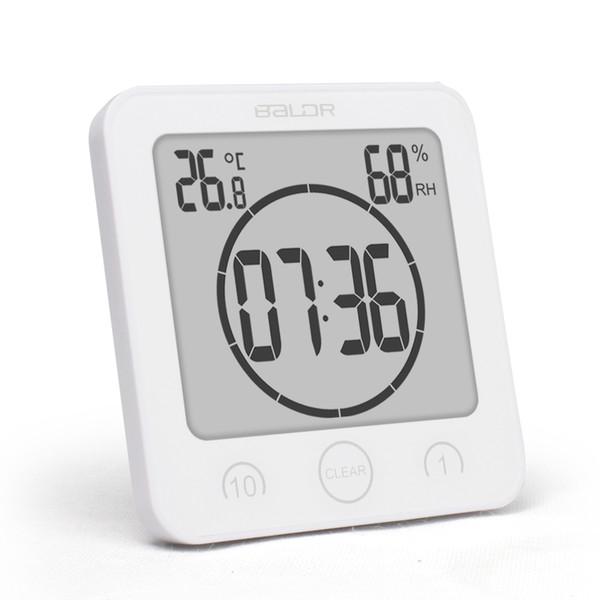 Nuovo digitale impermeabile doccia stand Orologio da parete Umidità Timer Temperatura