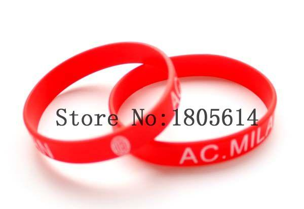 Heat! New red team sports wristbands 100% silicone Gym Fitness bracelet can be delivered free of charge wholesale 50pcs