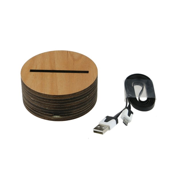 Wooden LED Base Warm White Light for 4mm PMMA Acrylic Light Panel USB Powered Drop Shipping Fast DHL Shipping