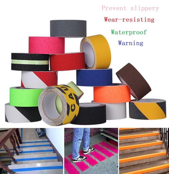 best selling 5cm*5M Stairs Floor Bathroom Grind Arenaceous Non-slip PVC Warning Safety Self-adhesive Rough Tape