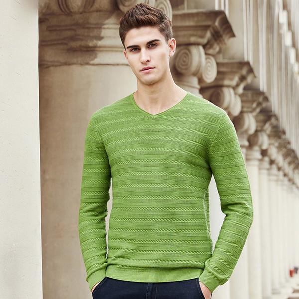 77483f3a095 2017 Новая весна свитер мужчин известный бренд одежды мода V-образным  вырезом вязать мужской свитер