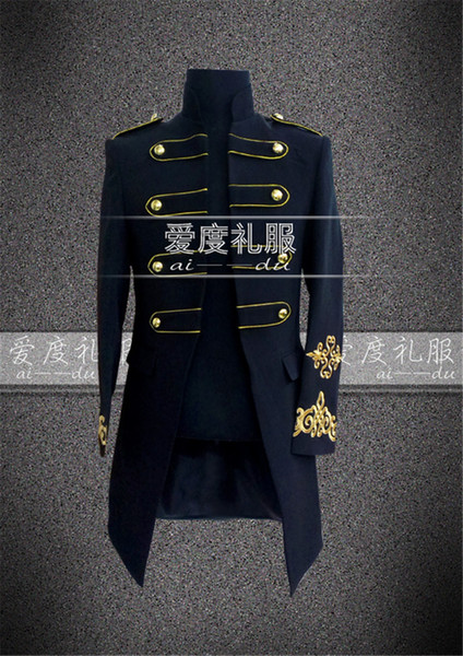 Wholesale- Royal Period Costume Medieval Renaissance Stage Performance Charming Fairy Tale William Colonial Stage Costumes