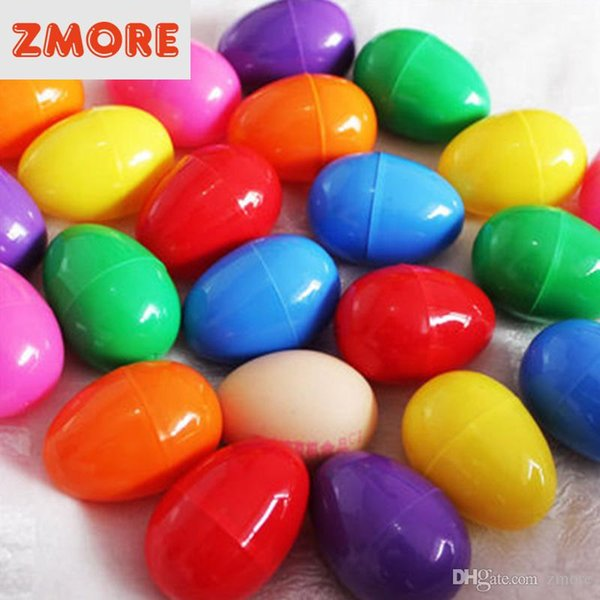 best selling 2018 Prettybaby Easter eggs Eco-friendly plastic buckle eggs 2 size puzzle eggs baby kids gift Easter day DIY decoration