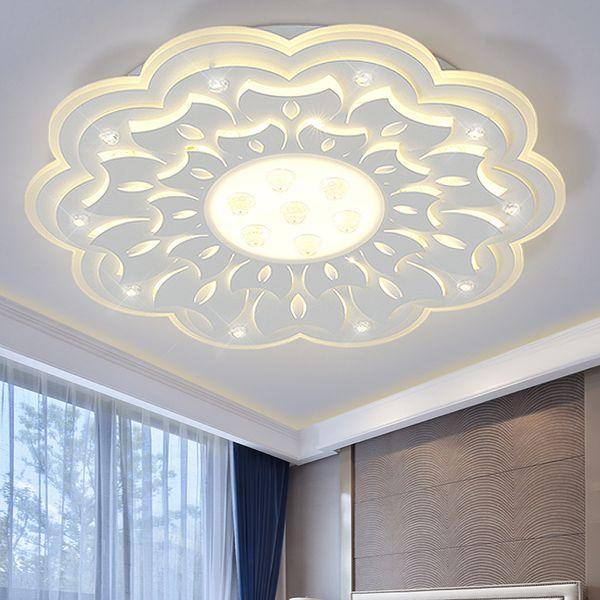 Minimalist Large LED Chandelier Light Fixture Modern White Ceiling For  Living Room Bedroom LED Lamparas De