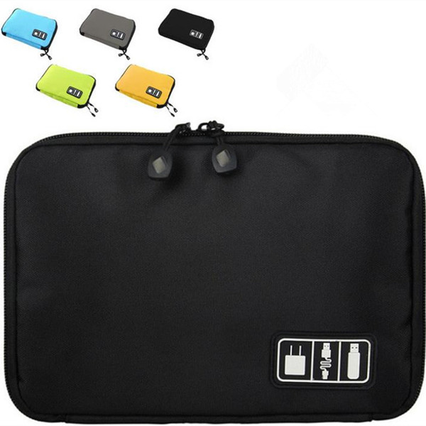 New Arrival Bubm Hard Drive Earphone Cables Usb Flash Drives Storage Travel Case Digital Cable Organizer Bag 5 colors F201723