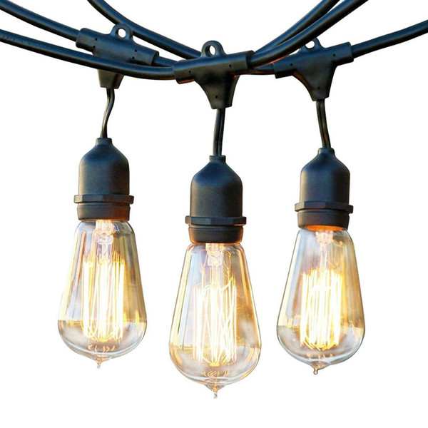 Party bulb Vintage Edition Outdoor Weatherproof Commercial-Grade Light Set, 60Watts, 48-Ft Outdoor or indoor decoration illumination