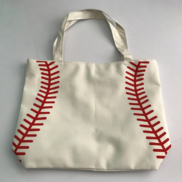 best selling 2017 small canvas bag Baseball Tote Bags Sports Bags Casual Tote Softball Bag Football Soccer Basketball Bag Cotton Canvas Material