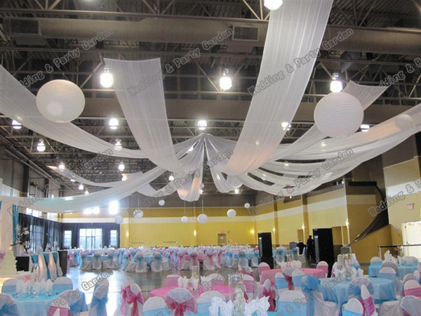 10m Length X 0 45m Wide Wedding Party Banquet Decoration Wedding Ceiling Drape Canopy Drapery For Decoration Birthday Party Decorations Online