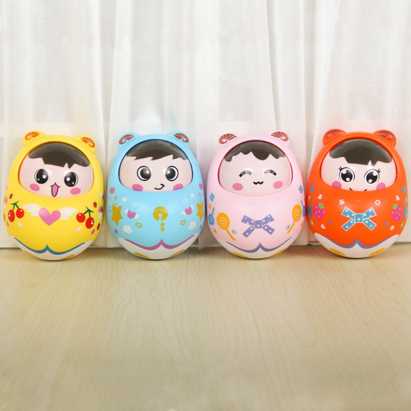 Color children toy rattle bell cartoon doll bell Budaoweng nod expression