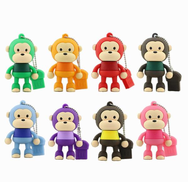 Cute Cool monkey model USB 3.0 Enough Memory Stick Flash Drive 4GB 8GB 16GB 32GB 64GB 128GB 100% Brand New