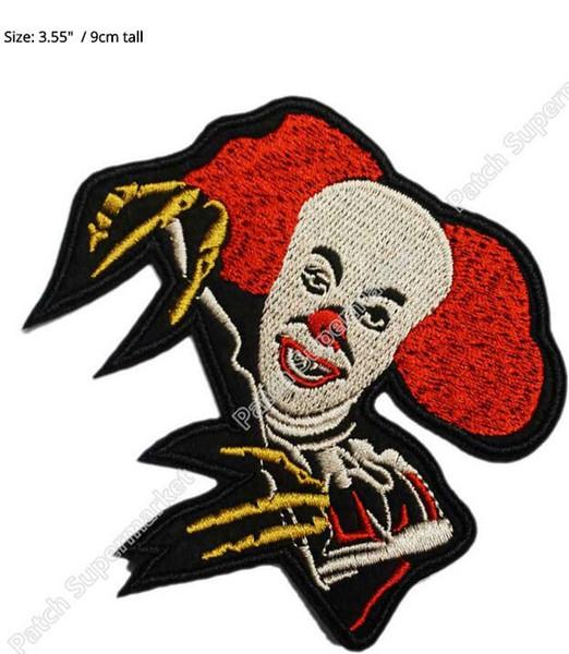 IT Horror Film Pennywise der tanzende Clown Stephen King Film TV-Serie bestickt Eisen auf Patch Transfer COMICS APPLIQUE