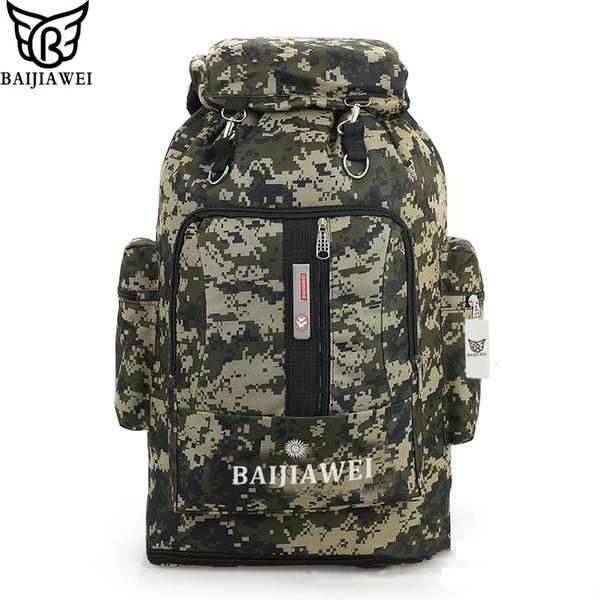 Wholesale- BAIJIAWEI 85 Liters Large Capacity Multifunction Men's Travel Bags Backpack man Camouflage Bag Trekking Rucksacks Men Backpacks