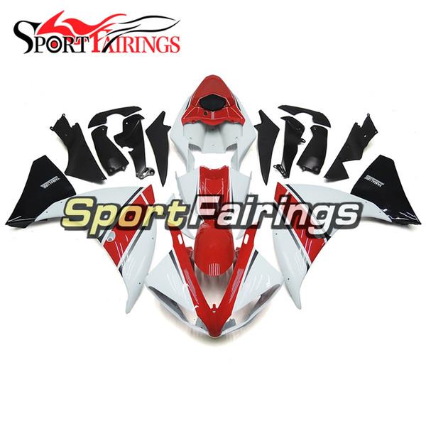 Full Injection White Red Fairings For Yamaha YZF1000 YZF R1 2009 2010 2011 Plastics ABS Motorbike Full Fairing Bodywork Cowls New Frames