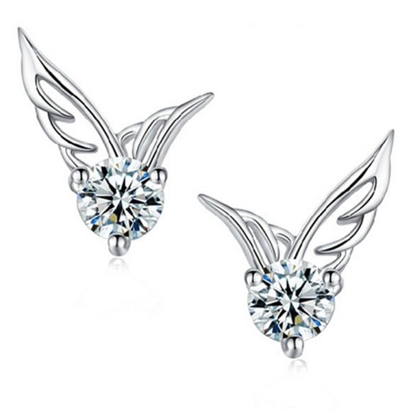 Wholesale (36 pair/lot) Angel Wings Earrings Fashion Stud Earring