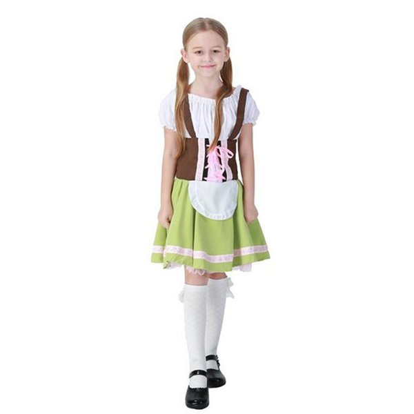 2017 New Arrival Girls Beer Costumes Germany Oktoberfest Cosplay Maid Dresses Stage Halloween Performance Clothing Hot Selling