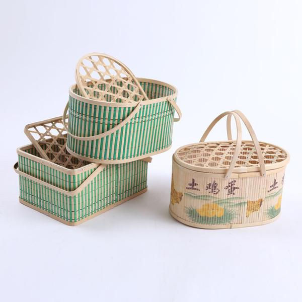 bamboo egg packaging basket storage box Fruit Rattan Storage Box For Cosmetics food picnic basket Handiwork & 2018 Bamboo Egg Packaging Basket Storage Box Fruit Rattan Storage ...