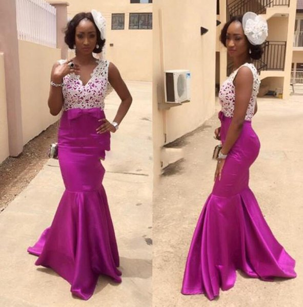 African Wedding Guest Dresses Bridal Outfits Purple Bridesmaid Dress For Wedding Evening Dresses Prom Party Maxi Dresses Ivory Bridesmaid Dress Non