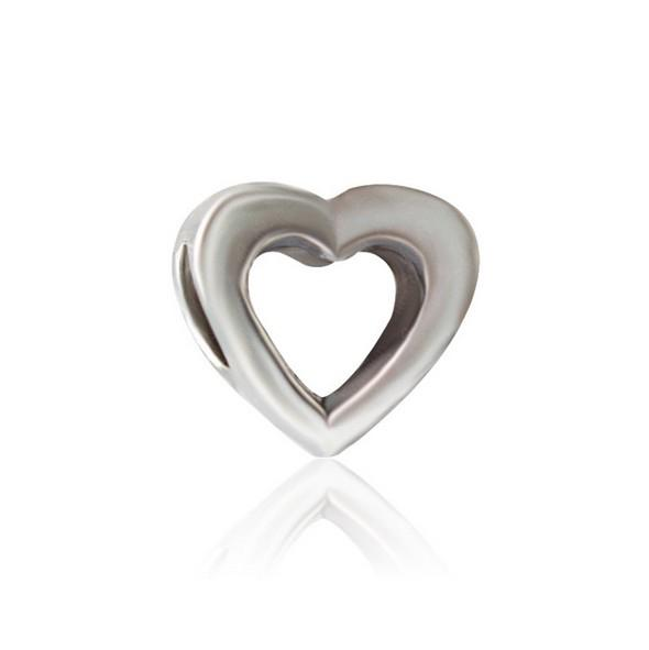 30pc European Silver Plated Big Hole Charms Loose Beads Fit Pandora Bracelets 925 Jewelry Hollow Heart for Sale Girls Mom Jewelry Making DIY
