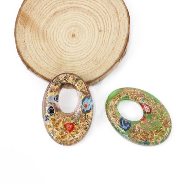 Pendenti di Millefiori di fascino di vetro di Murano del pendente di forma di goccia del pendente di Murano per i monili fatti 12pcs / box, MC0018