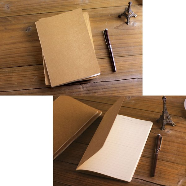 30 Sheets A5 Size Notepads Notebooks with Kraft Paper Covers (21cm x 14cm) For Travelers Office School Stationery Supplies