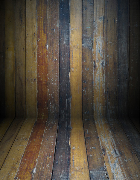 Vintage Wooden Texture Wall Floor Photographic Backgrounds for Baby Newborn Children Kids Portrait Photo Backdrops Photography Props