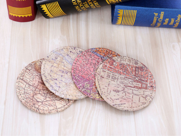 Wholesale- LINKWELL Set of 4 10cmx10cm Retro Paris City Map Bar Coaster Table Cup Holder Drink Placemat Mat Tabletop