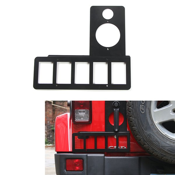 Jeep Wrangler Accessories 2017 >> Rear License Plate Bracket Holder Fit For Jeep Wrangler 2007 2017 High Quality Auto Exterior Accessories Metal Car Styling Exterior Accessories For