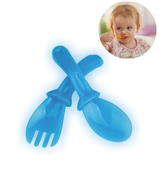 Spoon Fork Suit Baby Training Learn Dinnerware Set Security Eco Friendly Non Toxic Material Bright Colors Multicolor Select 2 5bl I1 R