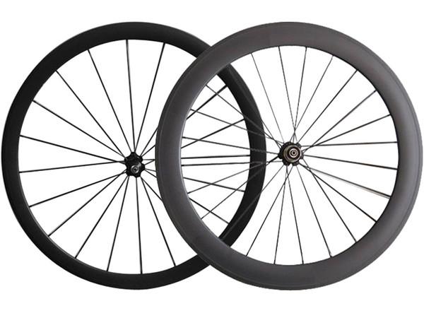 Full Carbon Road Bike Wheels 38+60 mm clincher/Tubular carbon Novatec Hub Cheap road bicycle wheels Cn Spoke Cheap Road Bike Wheelset