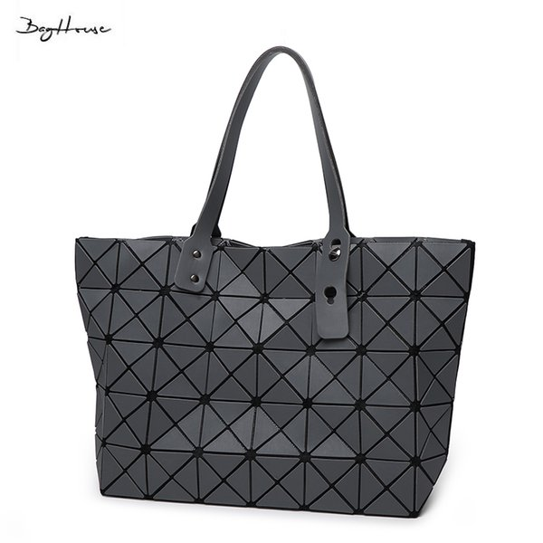 Wholesale-BaoBao issey women Matt Surface Retro Tote Shoulder Bags Miyake Famous brand Sequins Folding Handbags casual Top-handle bags