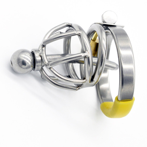 Stainless Steel Small Male Chastity device Adult Cock Cage With Curve Cock Ring Sex Toys Bondage Chastity belt 2016 Latest Design