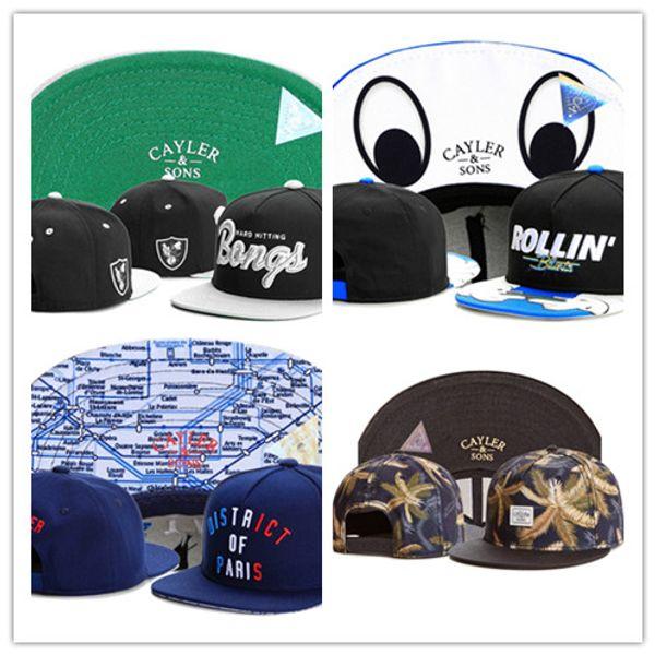 Free Shipping Cayler & Sons snapbacks Men's and Women's Basketball Football play hats Hip hop snapback Baseball cap